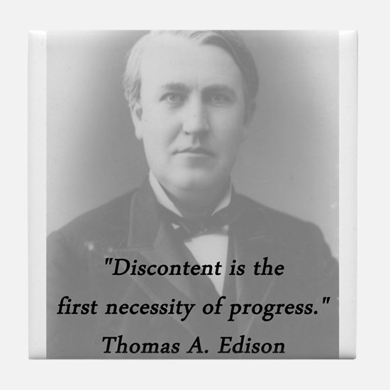 Edison - Discontent Tile Coaster
