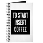 To Start Insert Coffee Journal