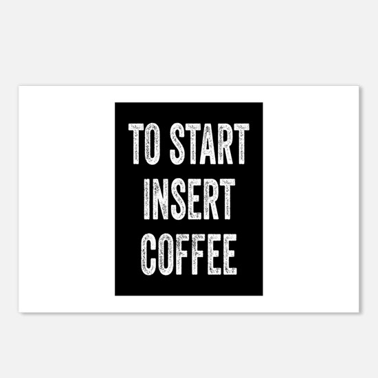 To Start Insert Coffee Postcards (Package of 8)