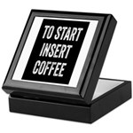 To Start Insert Coffee Keepsake Box