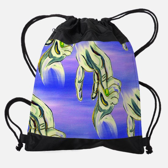 Mother and Baby Drawstring Bag