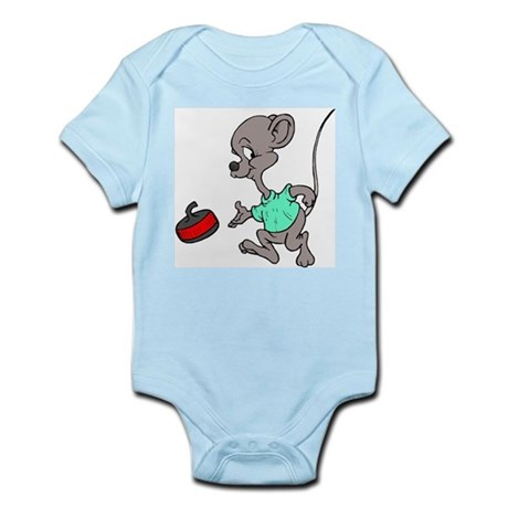 """Curling mouse"" Infant Creeper"