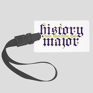 History Major Luggage Tag