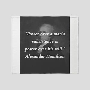 Hamilton - Power Over Throw Blanket