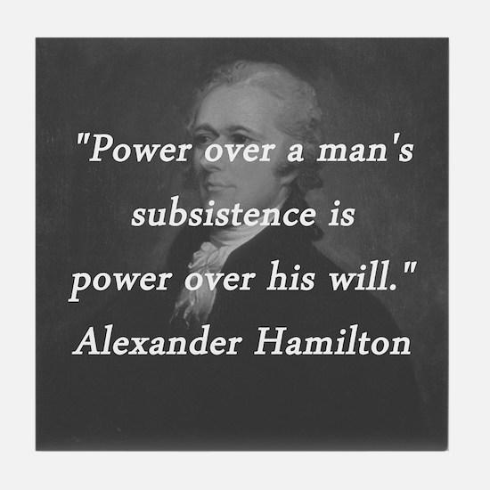 Hamilton - Power Over Tile Coaster