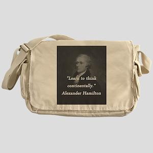 Hamilton - Learn to Think Messenger Bag