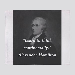 Hamilton - Learn to Think Throw Blanket