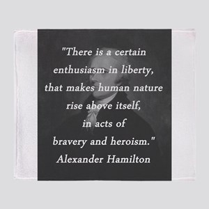 Hamilton - Certain Enthusiasm Throw Blanket