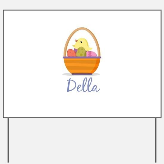 Easter Basket Della Yard Sign