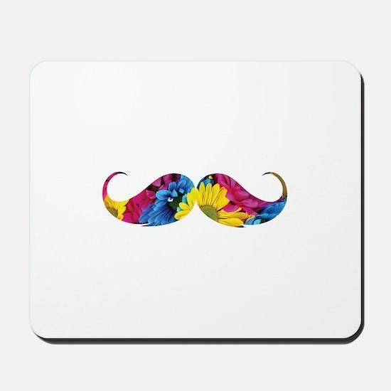 Flower moustache Mousepad