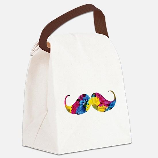 Flower moustache Canvas Lunch Bag