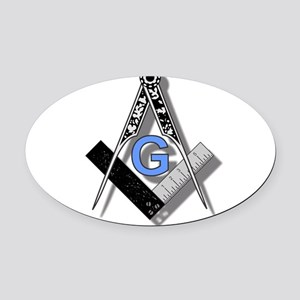 Masonic Square and Compass #2 Oval Car Magnet