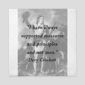 Crockett - Measures and Principles Queen Duvet