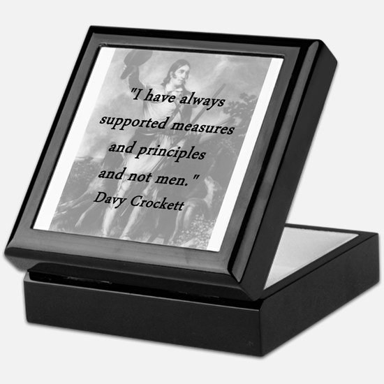 Crockett - Measures and Principles Keepsake Box