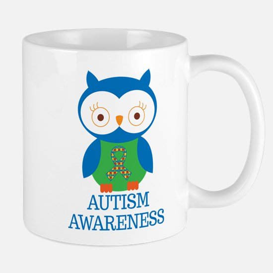 Autism Awareness Owl Mug
