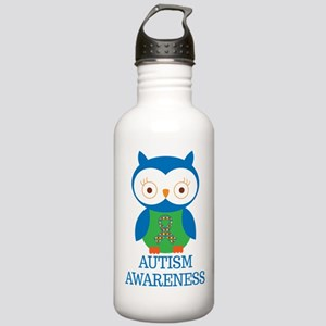Autism Awareness Owl Stainless Water Bottle 1.0L