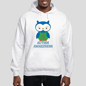 Autism Awareness Owl Hooded Sweatshirt