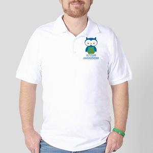 Autism Awareness Owl Golf Shirt