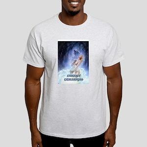 WEREWOLF LUNARLY CHALLENGED Ash Grey T-Shirt