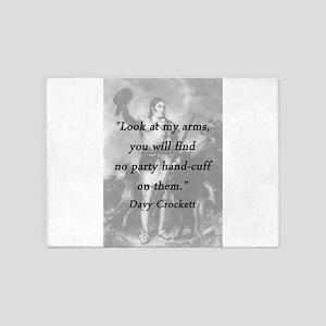 Crockett - Look at My Arms 5'x7'Area Rug