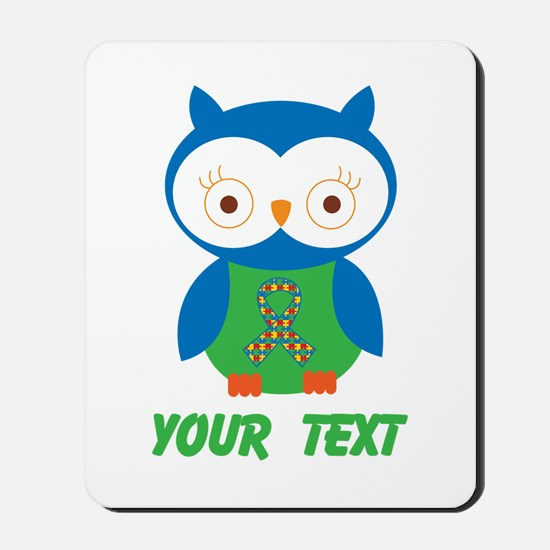 Personalized Autism Owl Mousepad