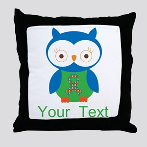Personalized Autism Owl Throw Pillow