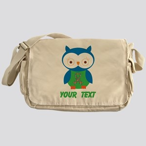 Personalized Autism Owl Messenger Bag