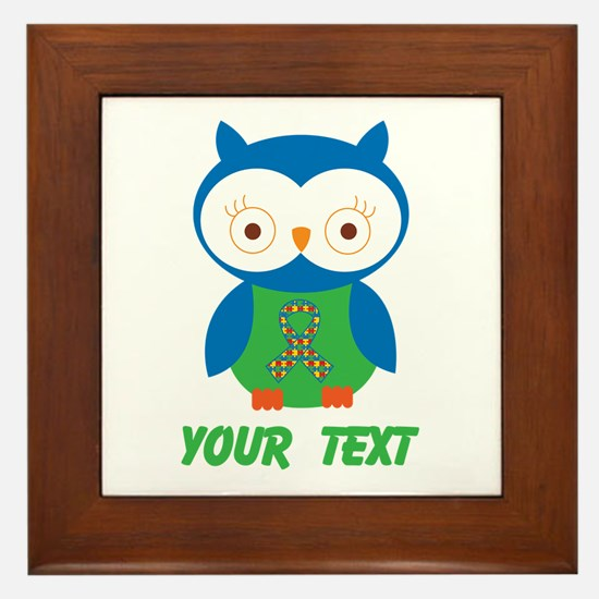 Personalized Autism Owl Framed Tile