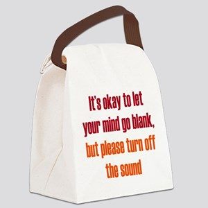 Sound of a Blank Mind Canvas Lunch Bag