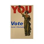 Vote. Lest I Perish. Rectangle Magnet (100 pack)