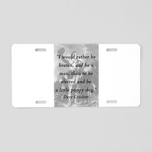 Crockett - Little Puppy Dog Aluminum License Plate