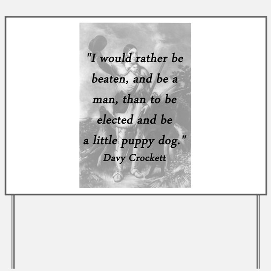 Crockett - Little Puppy Dog Yard Sign