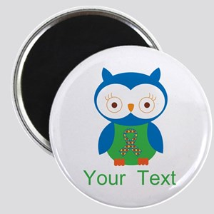 Personalized Autism Owl Magnet