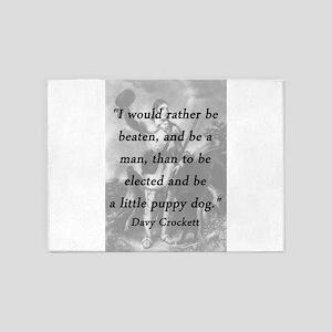 Crockett - Little Puppy Dog 5'x7'Area Rug