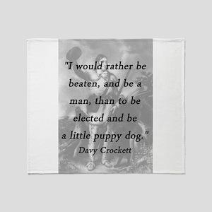Crockett - Little Puppy Dog Throw Blanket