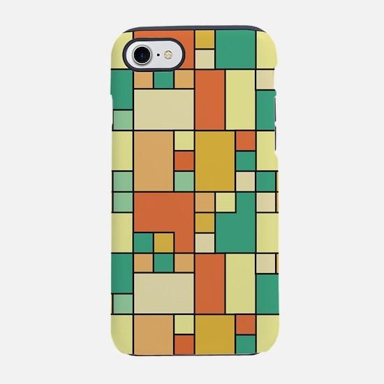Modern block pattern muted sum iPhone 7 Tough Case
