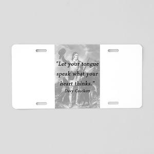 Crockett - Let Your Tongue Aluminum License Plate