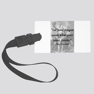 Crockett - Let Your Tongue Luggage Tag