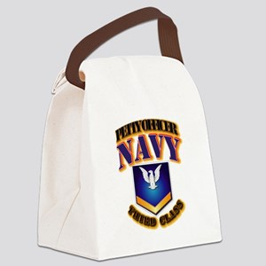 NAVY - PO3 - Gold Canvas Lunch Bag