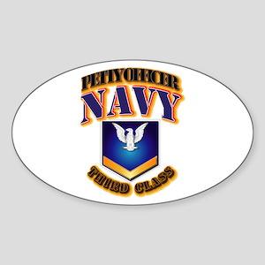NAVY - PO3 - Gold Sticker (Oval)
