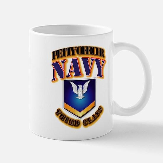 NAVY - PO3 - Gold Mug