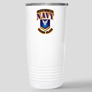 NAVY - PO3 - Gold Stainless Steel Travel Mug