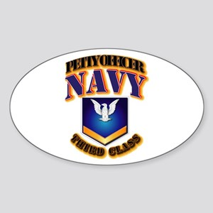 NAVY - PO3 - Gold Sticker (Oval)