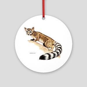 Ringtail Wild Cat Ornament (Round)