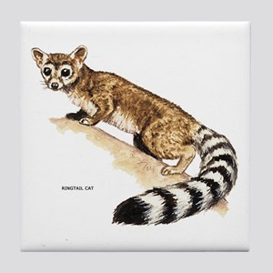 Ringtail Wild Cat Tile Coaster