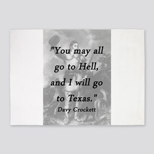 Crockett - I Will Go To Texas 5'x7'Area Rug