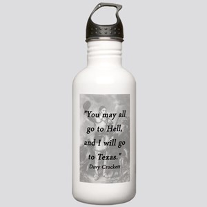 Crockett - I Will Go To Texas Water Bottle