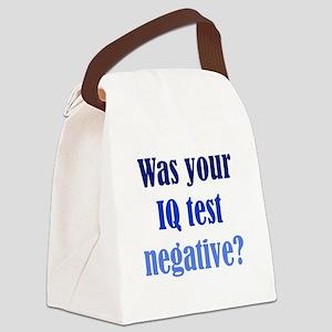 Negative IQ Test Canvas Lunch Bag