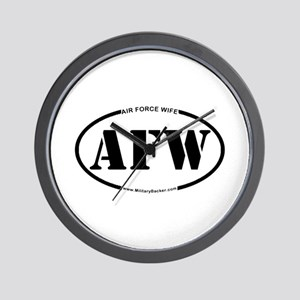 Air Force Wife (Oval) Wall Clock