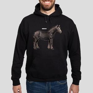 Percheron Horse Hoodie (dark)